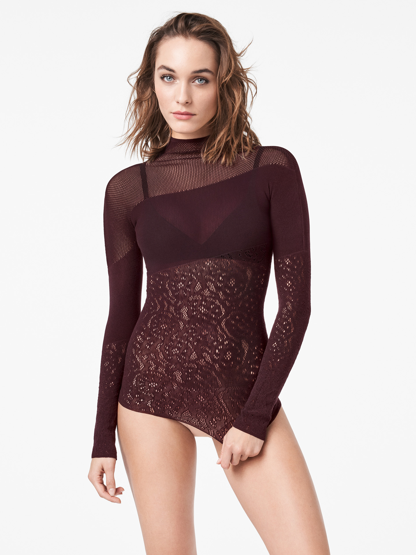 Wolford Apparel & Accessories > Clothing > Abbigliamento Donna Poison Dart Net Pullover