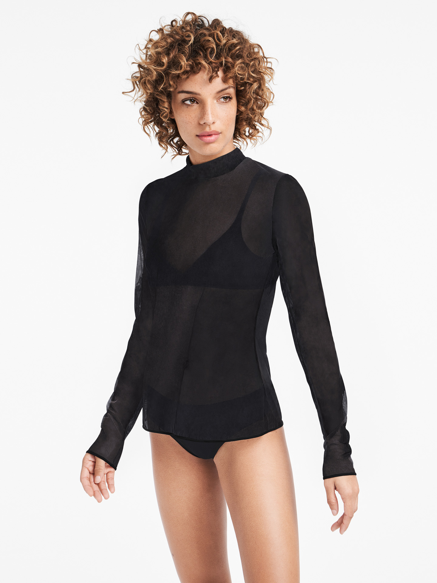 Wolford Apparel & Accessories > Clothing > Abbigliamento Donna Tulle Pullover
