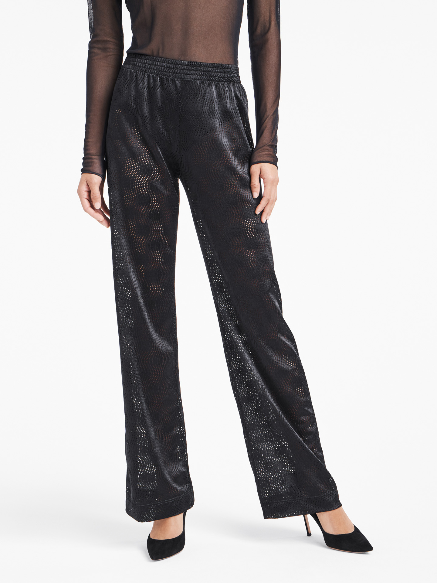 Wolford Apparel & Accessories > Clothing > Abbigliamento Donna Granular Poison Trousers