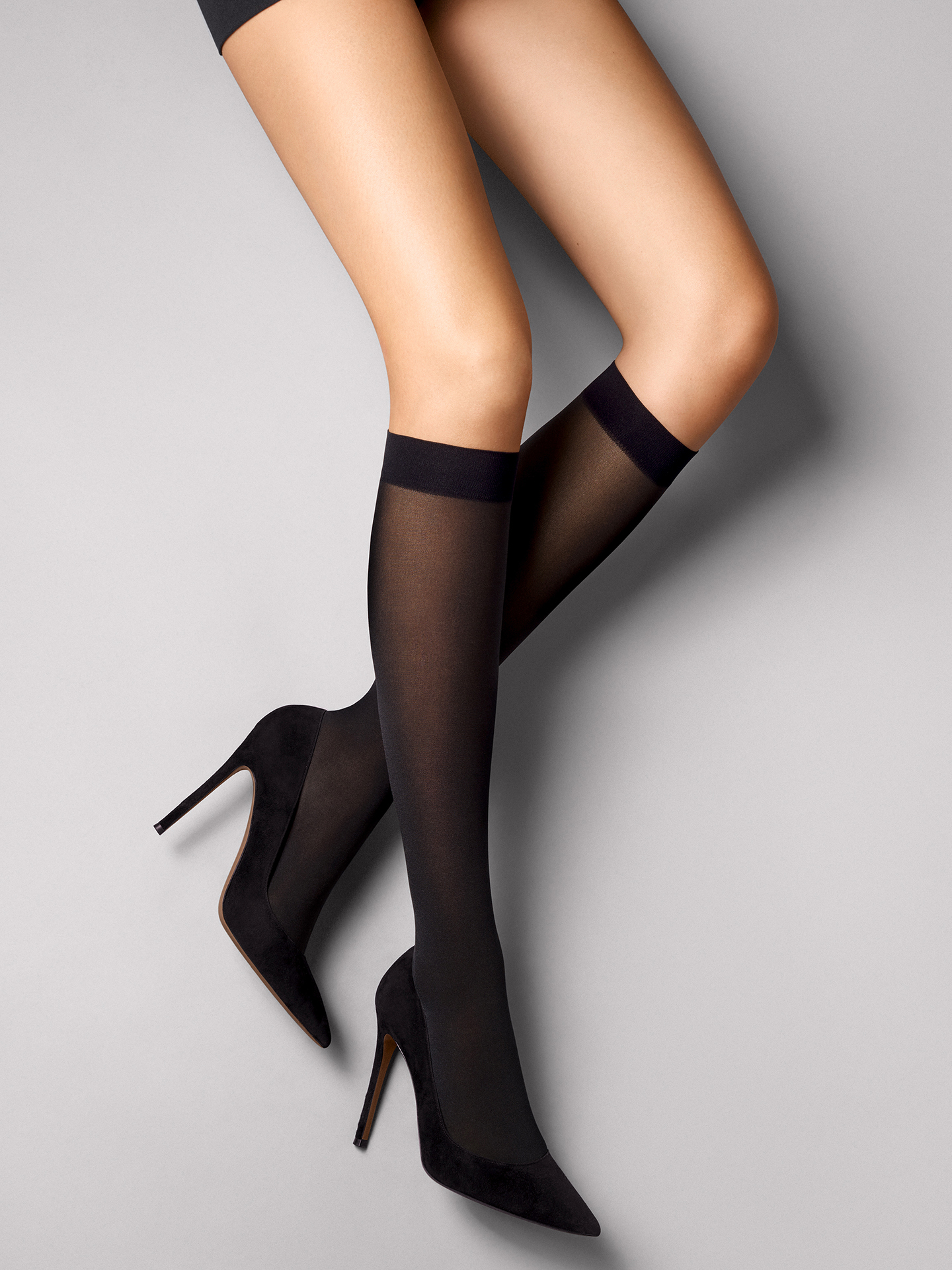 Wolford Apparel & Accessories > Clothing > Gambaletti Satin Opaque Nature Knee-Highs - 7005 - S